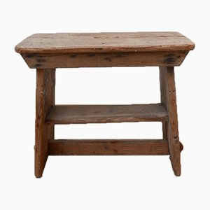Antique English Pine Pegged Stool