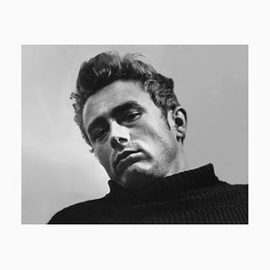 James Dean Archival Pigment Print Framed in White by Alamy Archives