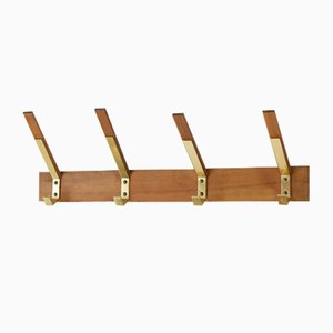 Mid-Century Wall Coat Rack, 1960s