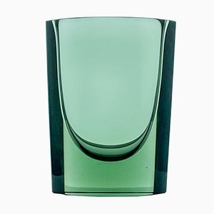 Grünes Kunst-Objekt aus Glas von Kaj Franck für Nuutajärvi-Notsjö, Finland, 1967