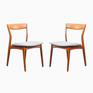 Skandinavische Teak Stühle, 1960er, 2er Set
