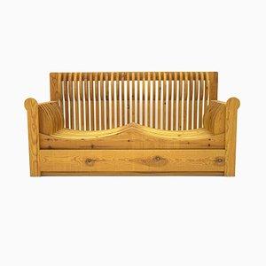 2- Sitzer Sofa aus Kiefernholz von Mario Ceroli für Poltronova, 1970er