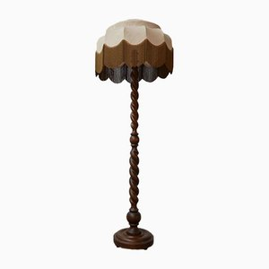 Schwedische Mid-Century Mahagoni Stehlampe