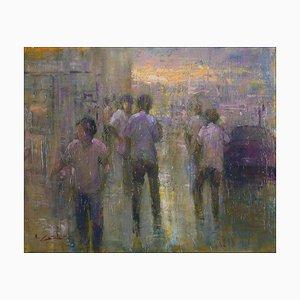 Renato Criscuolo, In Città, Oil on Canvas