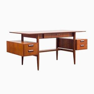 Teak Schreibtisch von Deutsche Werkstätten, 1950er