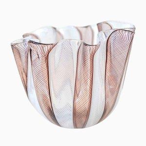 Zanfirico Vase aus Muranoglas von Paolo Venini für Venini, 1960er