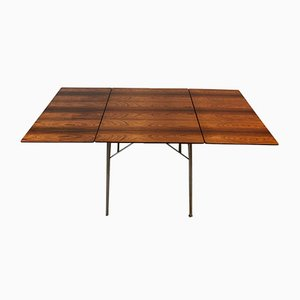 FH 3601 Brazilian Rosewood Drop Leaf Dining Table by Arne Jacobsen for Fritz Hansen, 1960s
