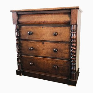 Antique Scottish Mahogany Dresser, 1880s