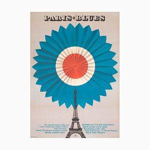 Affiche de Film Paris Blues, Allemagne de l'Est, 1970s