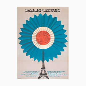 Paris Blues, East German Film Movie Poster, 1970s