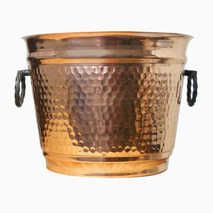 French Copper Pot by L. Lecellier of Villedieu, 1980s