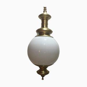 Lámpara colgante vintage de vidrio opalino de Metalarte