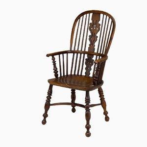 Windsor Yew Wood Thin Armchair
