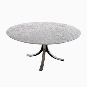 Tavolo in marmo di Carrara bianco di Osvaldo Borsani per Tecno