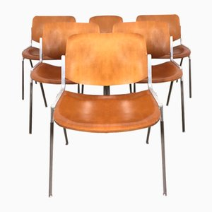 DSC 106 Desk Chairs by Giancarlo Piretti for Castelli / Anonima Castelli, 1960s, Set of 6
