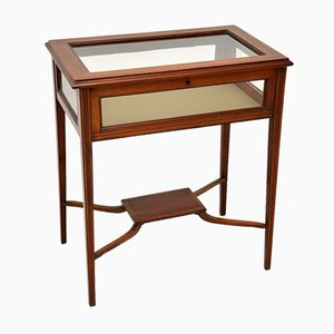 Tavolino edoardiano antico intarsiato