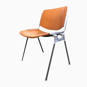 Chaises de Bureau DSC 106 par Giancarlo Piretti pour Castelli / Anonima Castelli, 1960s, Set de 4