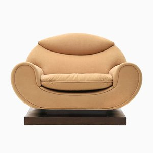 Sessel mit Holzsockel, 1930er