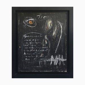 Pizarra negra - Técnica mixta sobre lienzo - Massimo D'Orta - Italy 2013