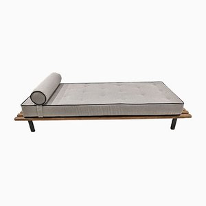 Vintage Cansado Bench with Grey & Black Mattress by Charlotte Perriand for Steph Simon