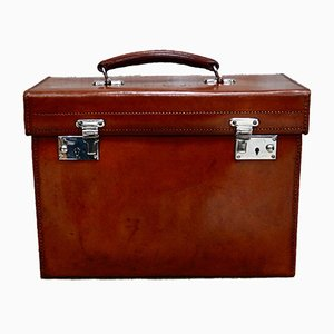 Vintage Leather Vanity Case from Harrods