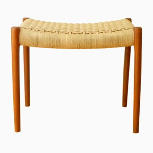 Model 80A Teak Stool / Ottoman by Niels Otto Moeller for J. L. Moeller, Denmark, 1960s