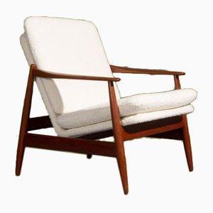 Niedriger Vintage Armlehnstuhl von Poul Volther für Frem Røjle