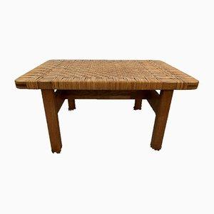 Table d'Appoint Vintage en Rotin et Chêne (5) 273 par Børge Mogensen