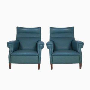 Late Art Deco Italian Armchairs, Set of 2
