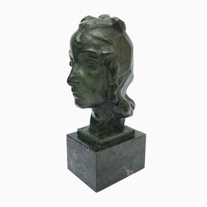 Italian Bronze Liucia Sculpture by Ravasio 1942