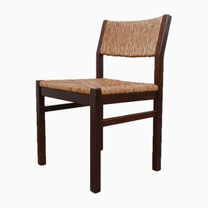 Mid-Century Rush Dutch Dining Chairs, Set of 4