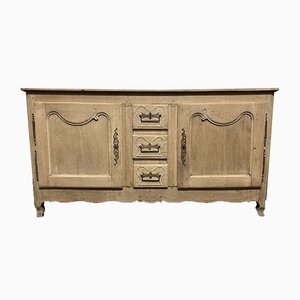 French 18th Century Bleached Oak Sideboard or Enfilade