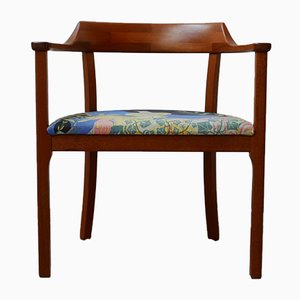 Swedish Teak Mid-Century Armchair with Anakreon Upholstery by Josef Frank
