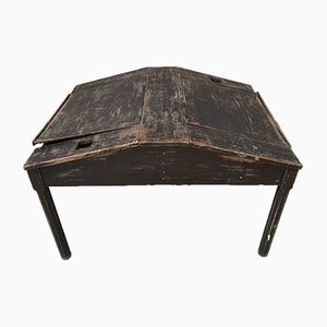 Blackened Fir Double-Sided Writing Desk, 1900s