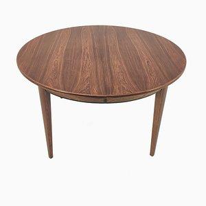Mesa de comedor de palisandro de Arne Vodder, años 60