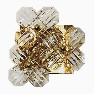 Wandleuchte aus Kristallglas von Kinkeldey, 1960er