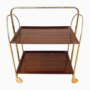 Mid-Century Gold Bar Cart, 1970s