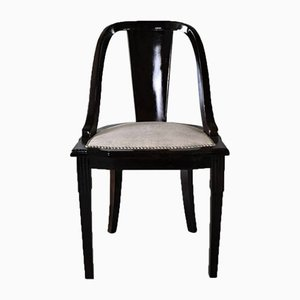 "French Art Deco ""Gondola"" Dining Chairs 1930s, Set of 6"