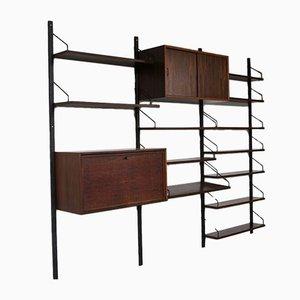 Libreria modulare in palissandro di Poul Cadovius per Royal Denmark, set di 18