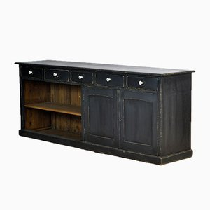 Antique French Pine Shop Counter, 1920s