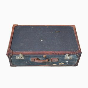 Large Antique Blue Trunk