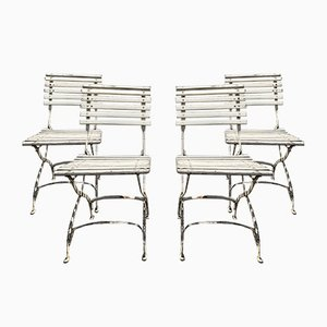 Outdoor Folding Chairs from a Coffeehouse, 1910s, Set of 4