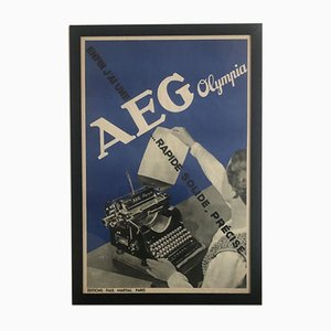 AEG Olympia Promotional Poster by Francis Bernard for Paul Martial, 1935