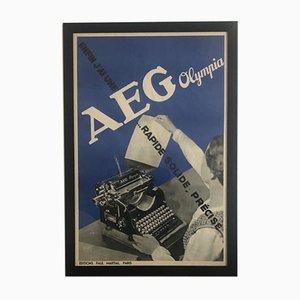 AEG Olympia Werbeposter von Francis Bernard für Paul Martial, 1935