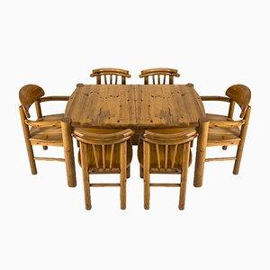 Set de Table et Chaises de Salle à Manger dans le Style de Rainer Daumiller, 1970s, Set de 7
