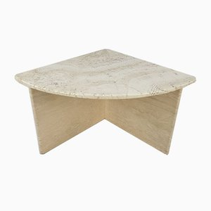 Mid-Century Italian Travertine Coffee Table, 1980s