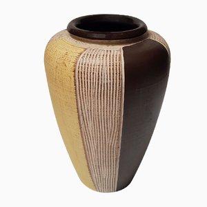 Vase in Gelb & Braun, 1960er