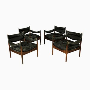 Vintage Modus Lounge Chairs by Kristian Vedel for Soren Willadsen, Set of 4
