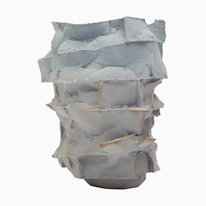 Vaso in porcellana impiallacciato a mano di Monika Patuszyńska