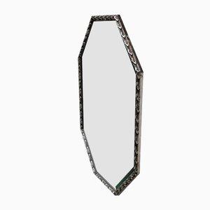 Achteckiger versilberter Spiegel